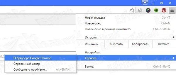 Google Chrome о браузере