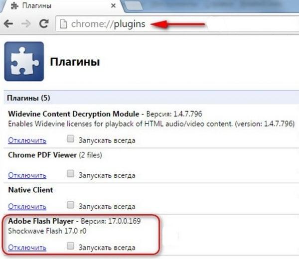 Включаем Flash Player в Google Chrome
